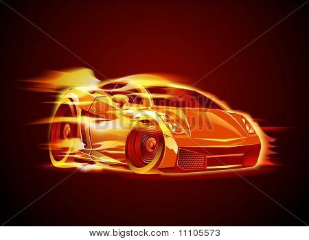 Vector modern cartoon car