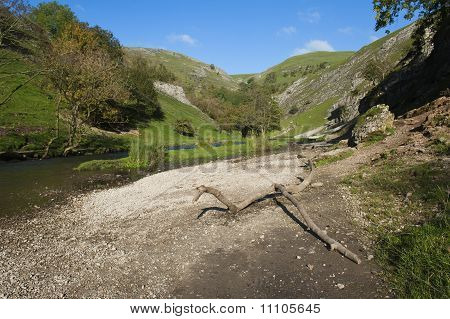 Dovedale in the Peak District, Derbyshire, England