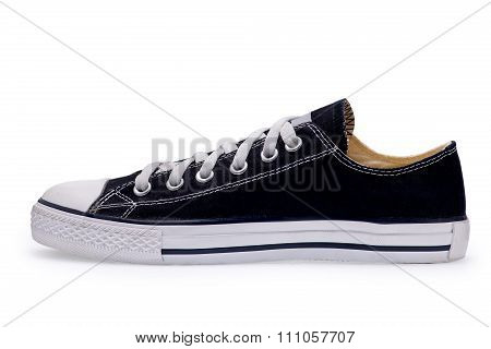 Single Of Black Gumshoes With Shoelace