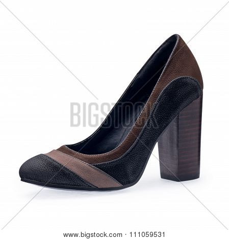 The One Of Women's Shoes Black Stilettos With A Decorative Belt