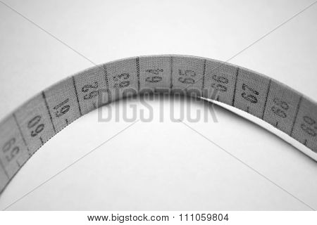 Measuring Tape. Black And White