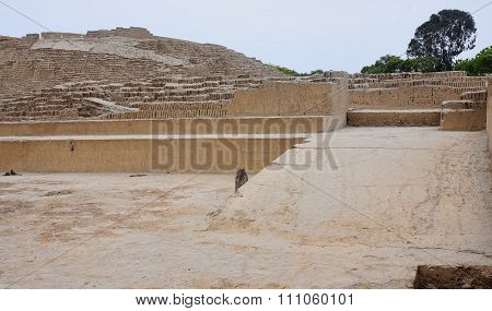 Old Buildings Of Adobe Bricks In  Pucllana