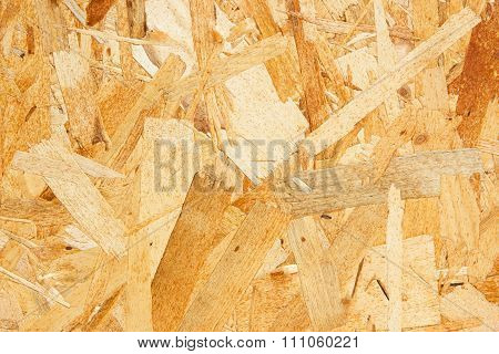 Press particle board made of wood flakes.