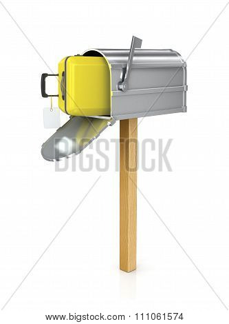 Open The Mailbox In Which The Yellow Suitcase
