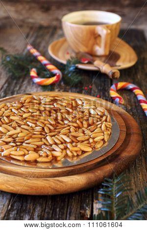 Catalan Tart: Caramelized Pine Nuts