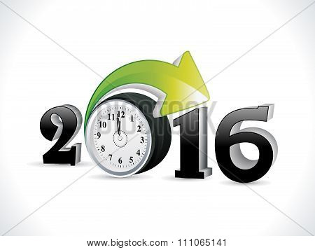 Abstract Creative New Year Text With Clock