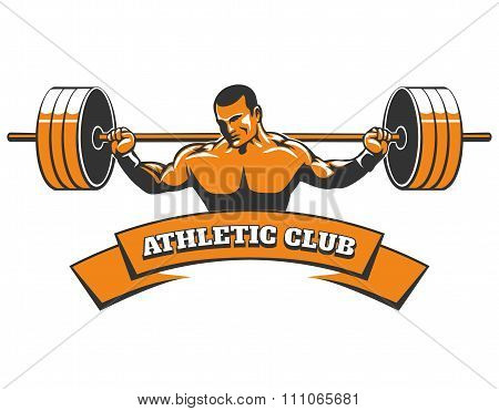 Athletic Or Powerlifting Club Emblem