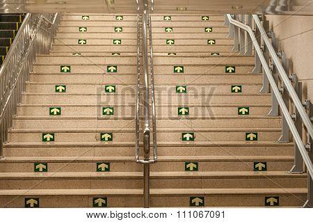 Public stair case