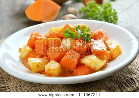 Stew Pumpkin And Potato