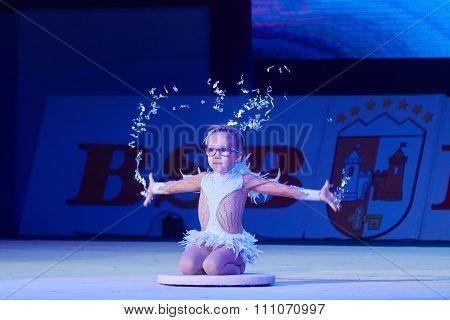 Minsk, Belarus December 05: Miroslava Vabischevich From ' Sk Mowgli' Participate With 'a