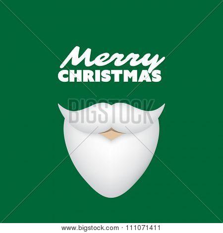 Merry Christmas Card With Santa Claus' Beard