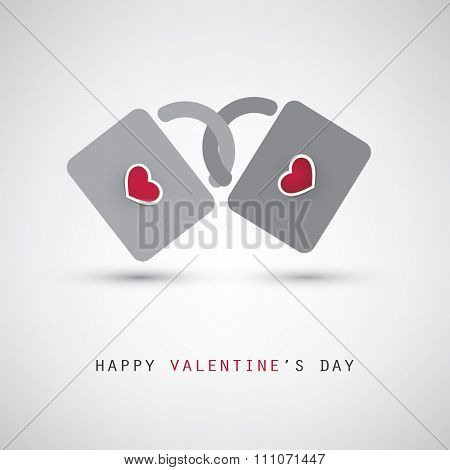 Valentine and Wedding Card Design With Padlocks