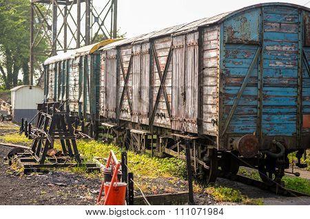 Vintage railway transport wagons
