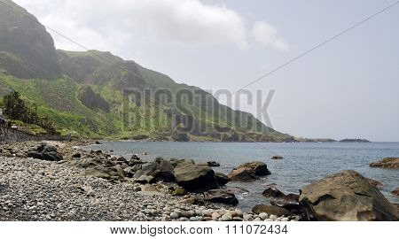 Rocky Beach Of Fajan D'agua