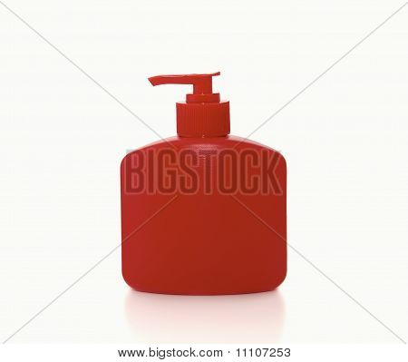 bottle of liquid soap