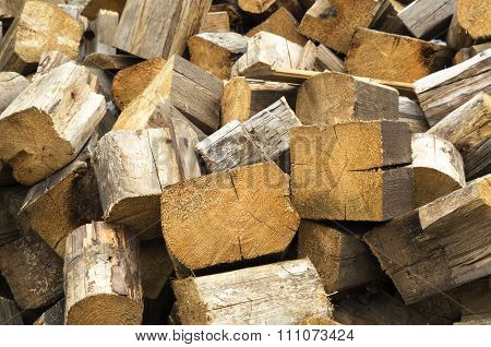 Wooden Logs Background