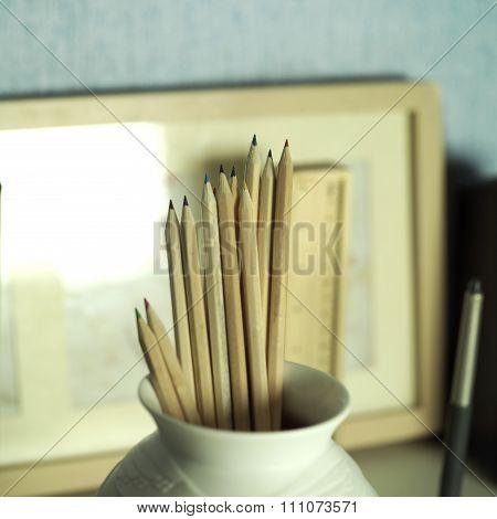 Pencils In Vase