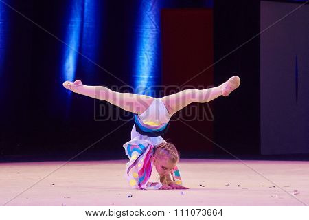 Minsk, Belarus December 05: Unidentified Gymnast From ' Smolevichy' Participate With 'mi