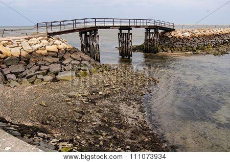 Falling Tide At Plymouth Breakwater