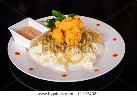 Grilled chicken with Chinese cabbage