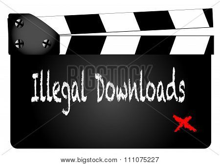Illegal Downloads Clapperboard