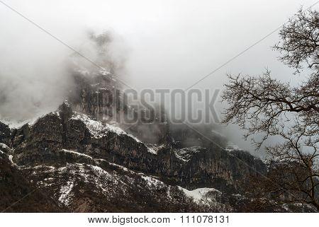 Mountain Landscape In Greece
