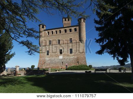 View Of The Castle Of Grinzane Cavour Unesco Heritage