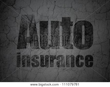 Insurance concept: Auto Insurance on grunge wall background