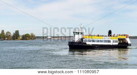 Passenger Ferry Boat Tor Enters Port Of Helsinki