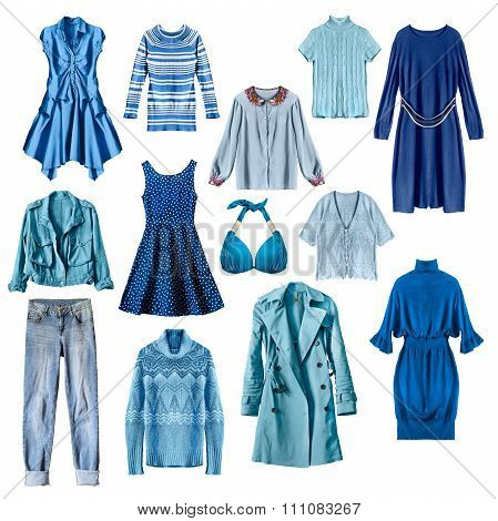 Blue Clothes Isolated