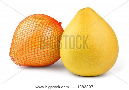 Two ripe pomelo fruit