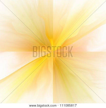 Abstract White Background With Warm Yellow And Orange Color Rays In Center Texture