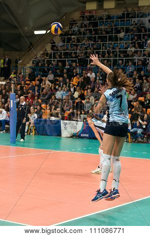 Victoria Chaplin (dynamo (kzn) 7, While Playing On Women's Rissian Voll