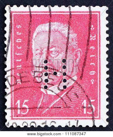 Postage Stamp Germany 1928 Paul Von Hindenburg