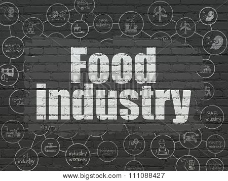 Industry concept: Food Industry on wall background