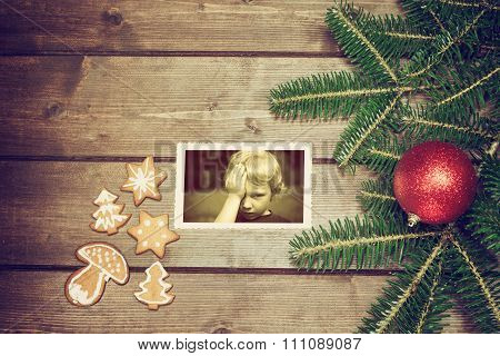 Vintage Photo Of Christmas Symbols