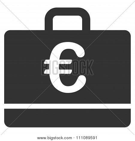 Euro Case Flat Icon