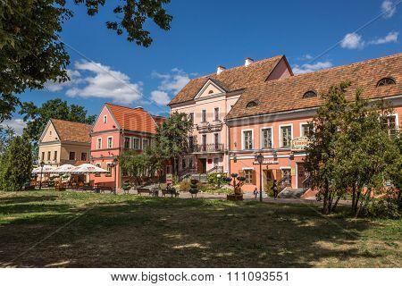 Minsk, Belarus - August 11 2015: Traetskae Pradmestse (Trinity Suburb) - historical center of Minsk