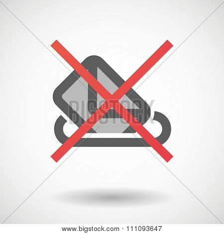 Not Allowed Icon With  A Ballot Box