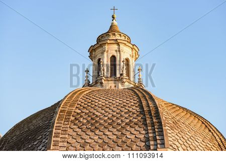 Church Dome In Popolo Square