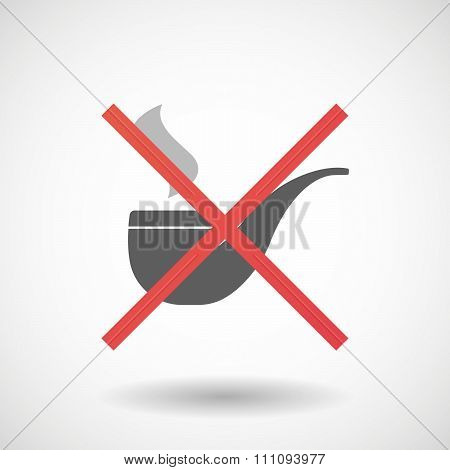 Not Allowed Icon With A Smoking Pipe