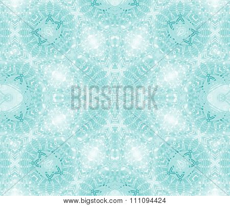 Seamless ornaments aquamarine white