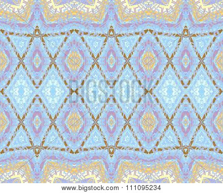 Seamless diamond pattern blue brown