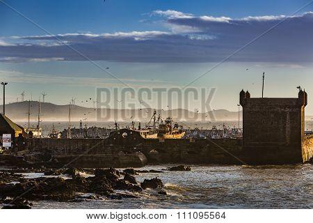 Harbor In Essaouira, Morocco