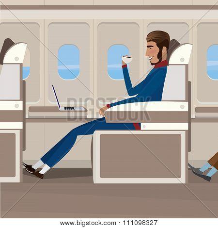 Flight In Business Class