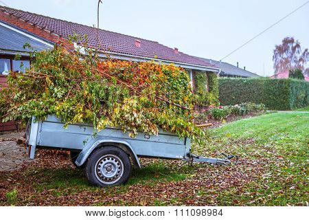 Garden Waste In A Wagon