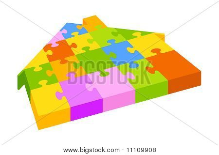 House puzzle shape