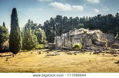 Asclepeion At Kos Island, Greece