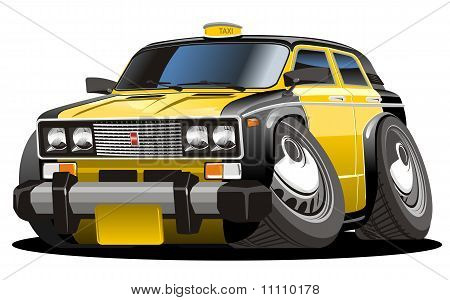 Vektor-Cartoon-taxi