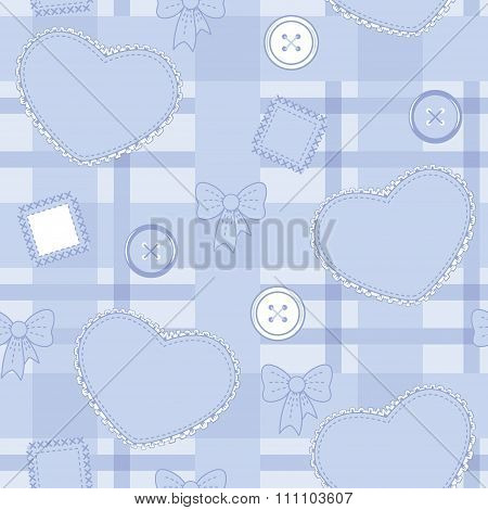 Pattern With Hearts And Buttons
